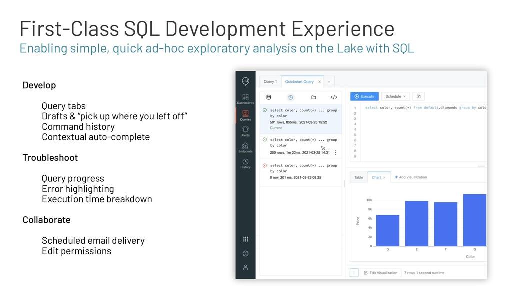 First-Class SQL Development Experience Develop ...