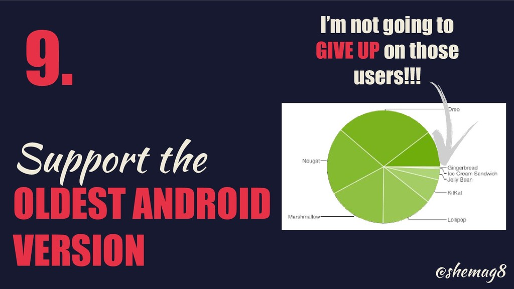 @shemag8 Support the OLDEST ANDROID VERSION I'm...