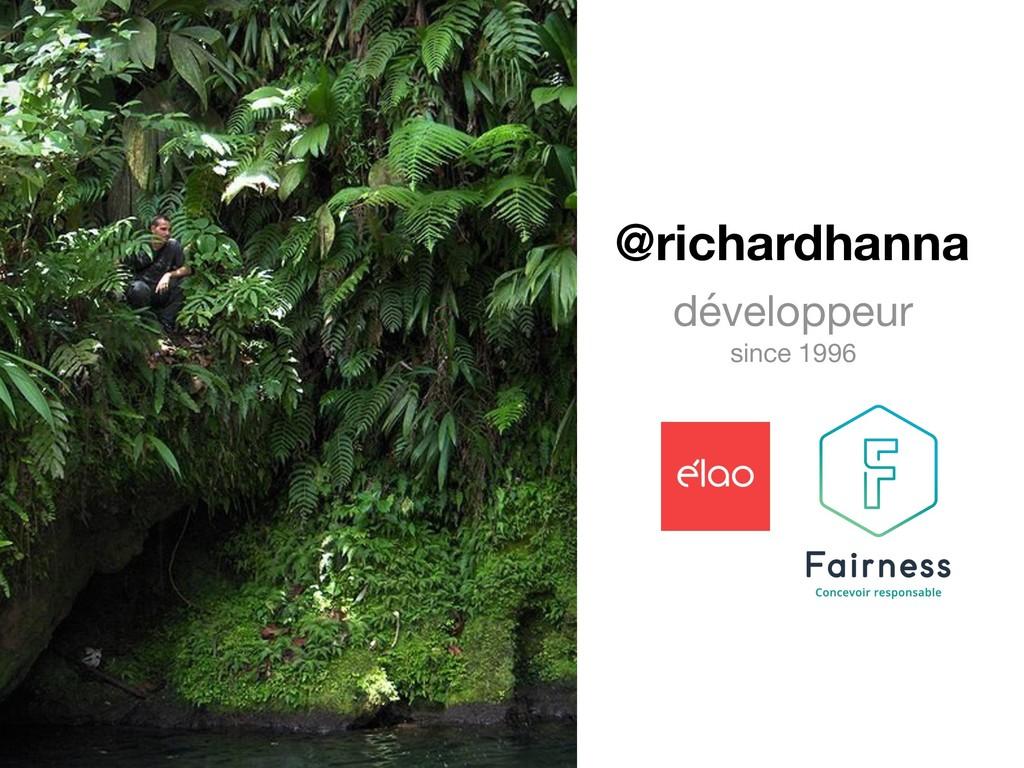 @richardhanna développeur  since 1996