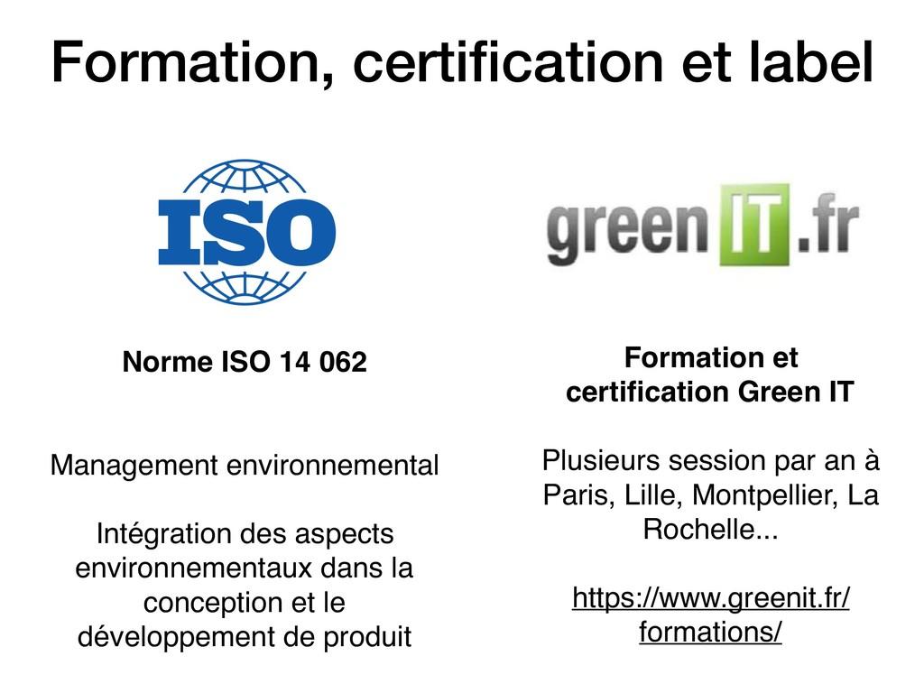 Formation, certification et label Formation et c...