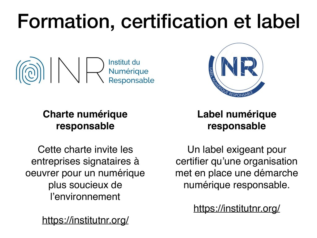 Formation, certification et label Charte numériq...