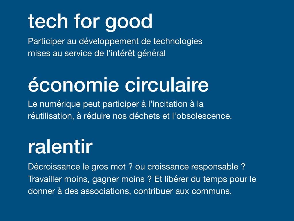 tech for good Participer au développement de te...