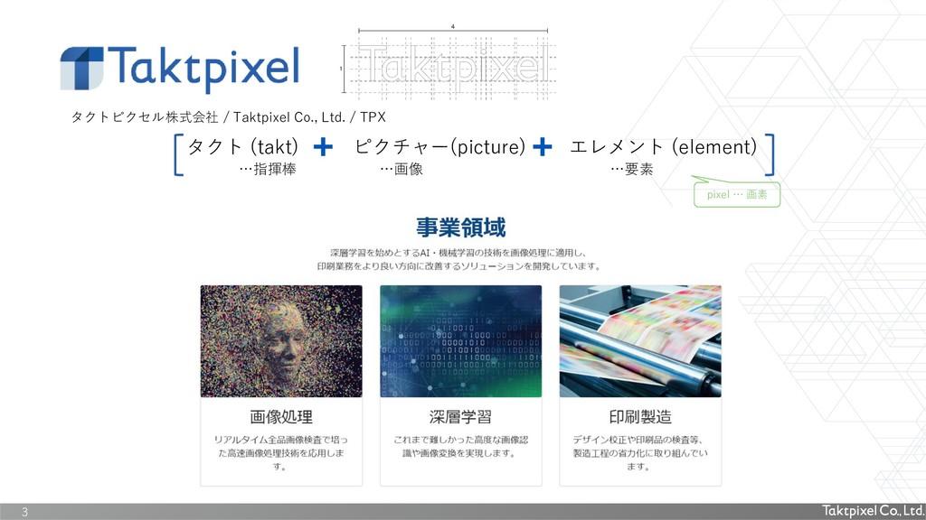 3 タクトピクセル株式会社 / Taktpixel Co., Ltd. / TPX タクト (...