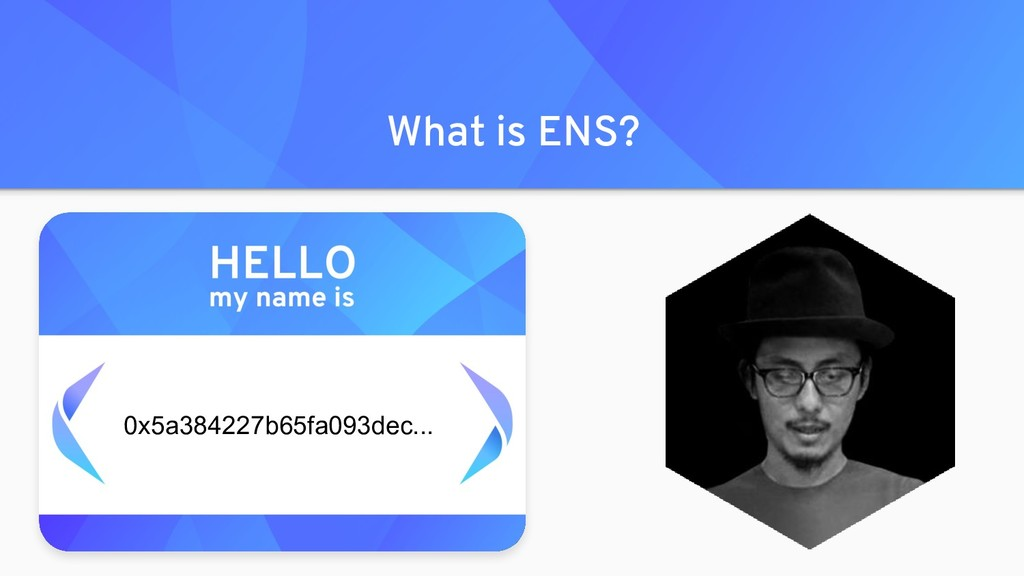 What is ENS? 0x5a384227b65fa093dec...
