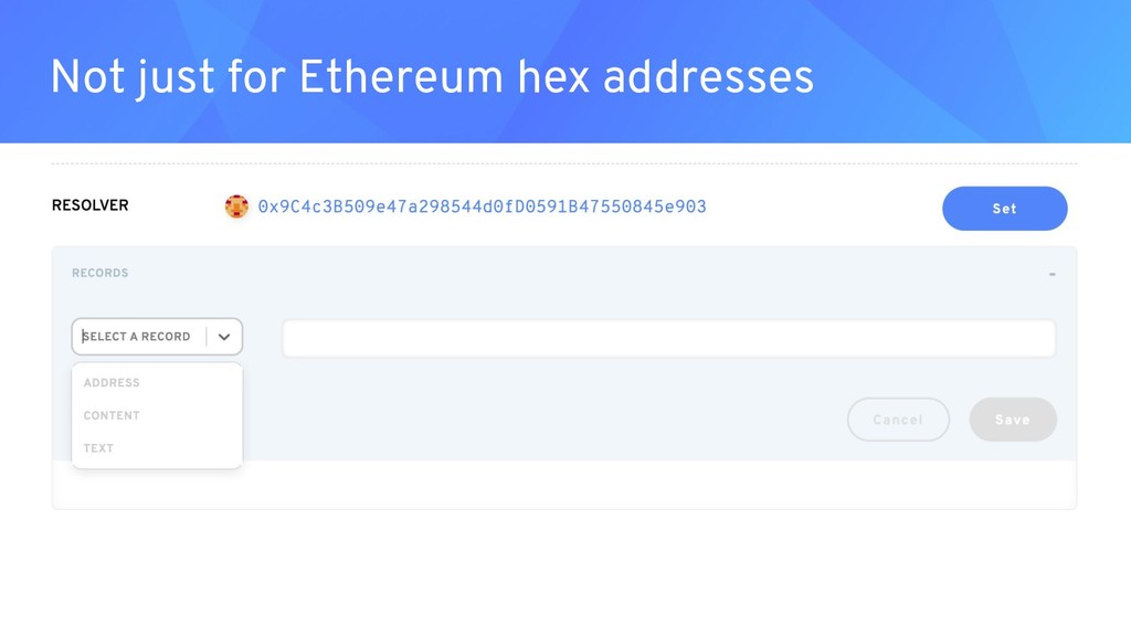 Not just for Ethereum hex addresses