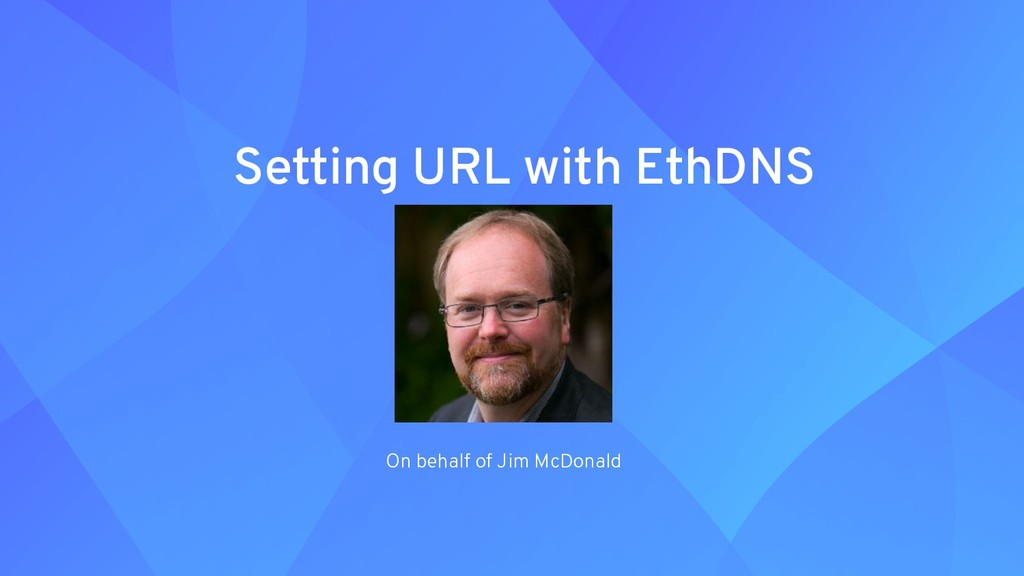 Setting URL with EthDNS On behalf of Jim McDona...