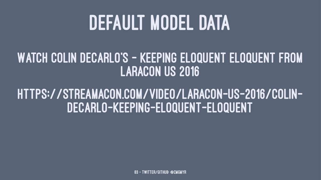 DEFAULT MODEL DATA Watch Colin DeCarlo's - Keep...