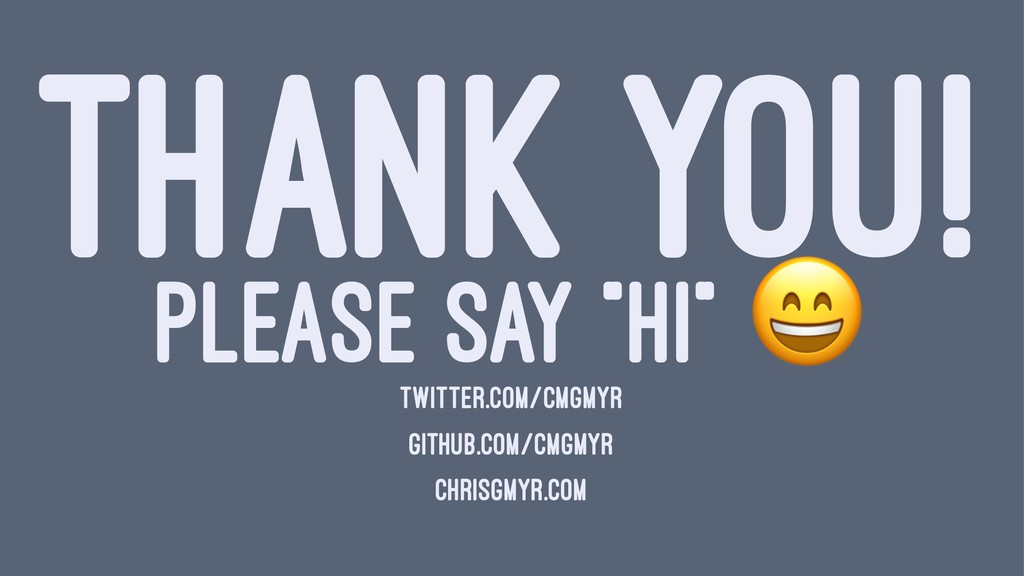 "THANK YOU! PLEASE SAY ""HI"" TWITTER.COM/CMGMYR G..."