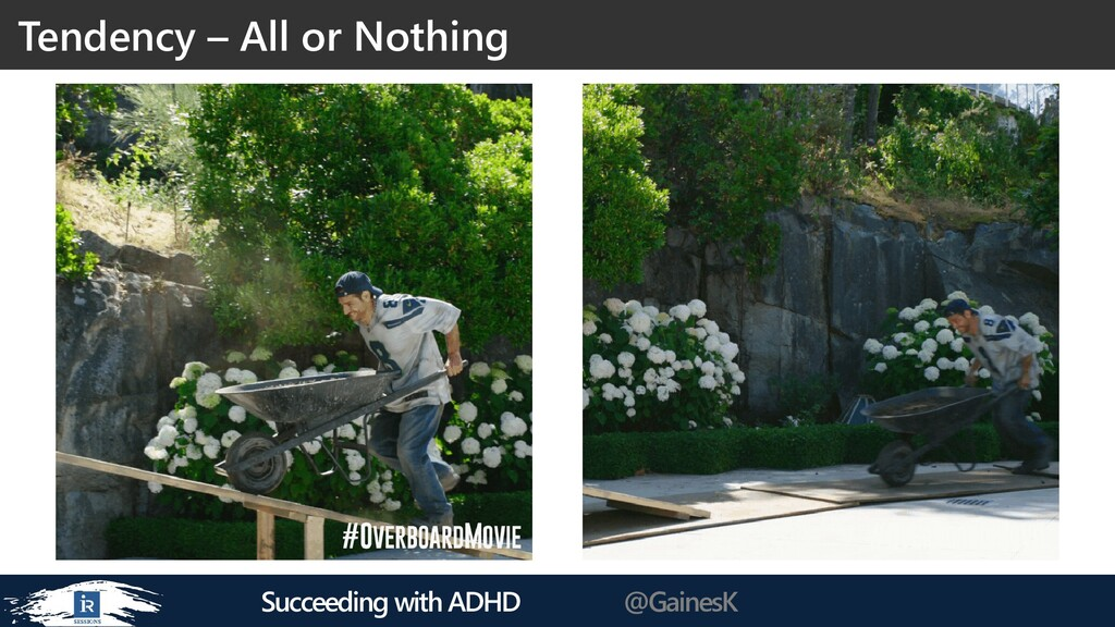 Succeeding with ADHD @GainesK Tendency – All or...