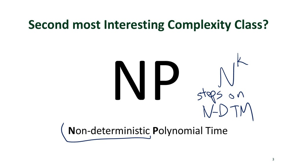 Second most Interesting Complexity Class? 3 NP ...