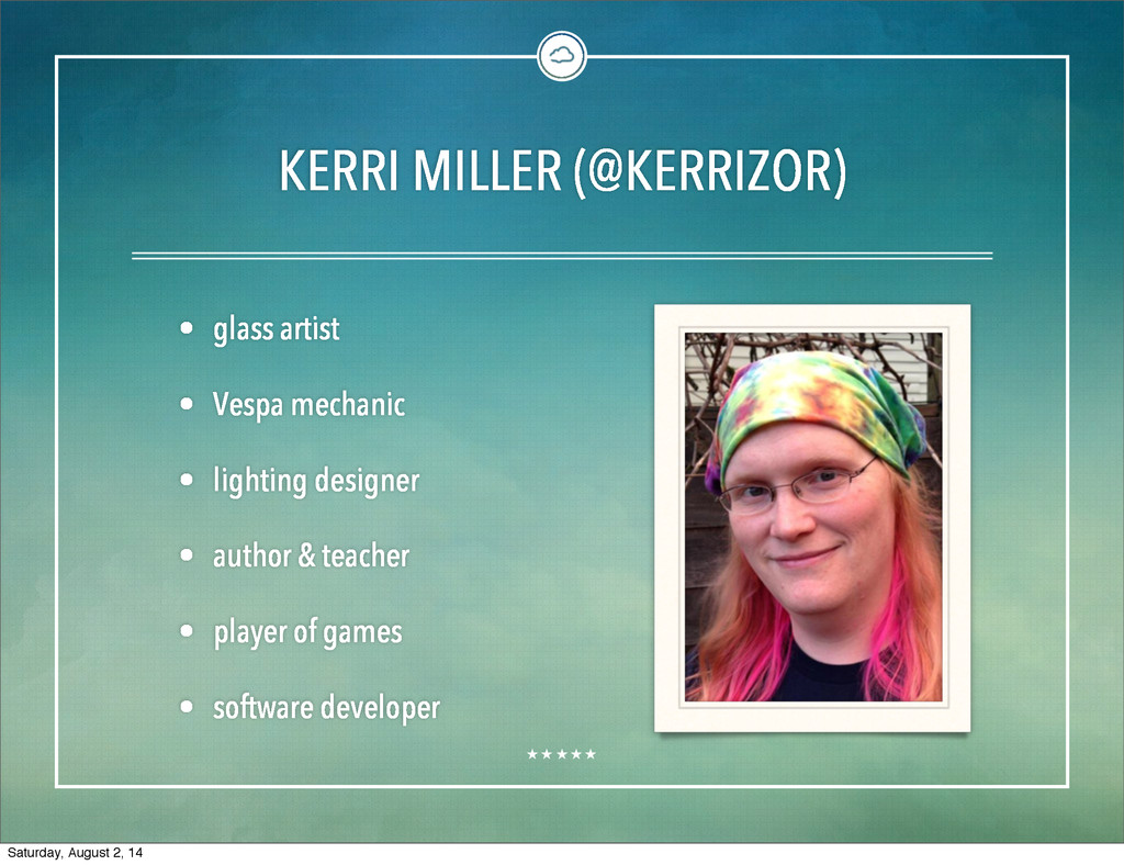 KERRI MILLER (@KERRIZOR) • glass artist • Vespa...