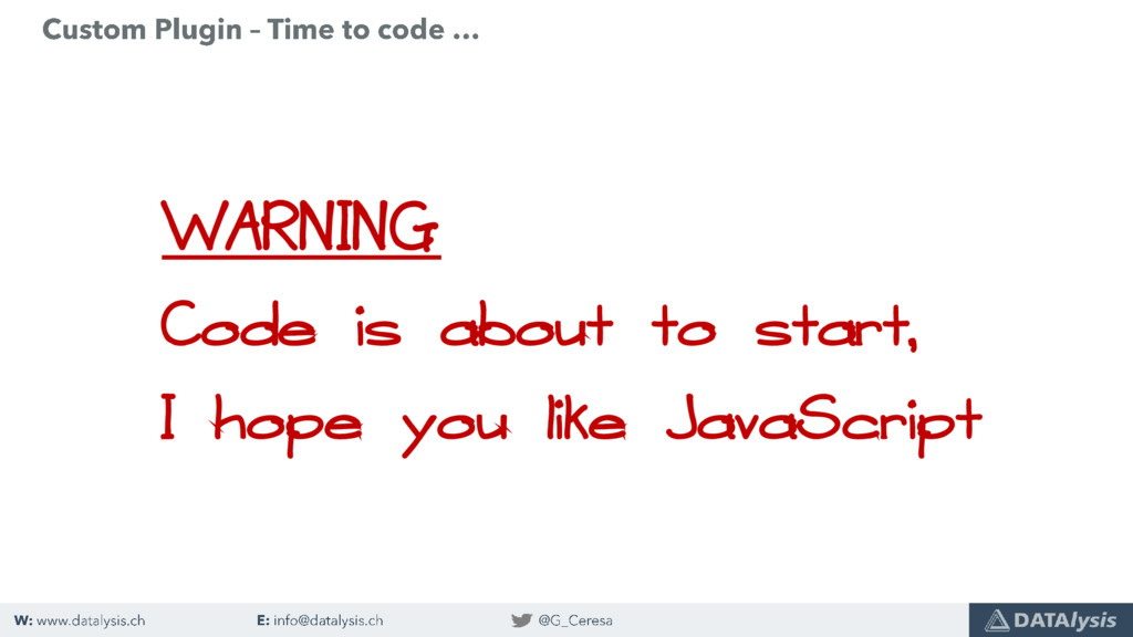 WARNING Code is about to start, I hope you like...