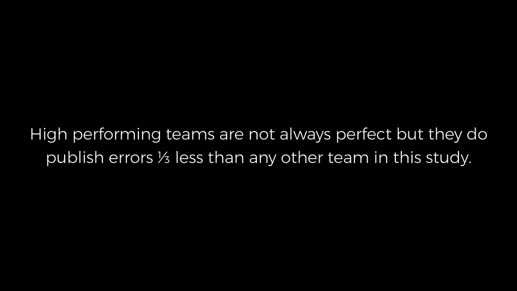 High performing teams are not always perfect bu...