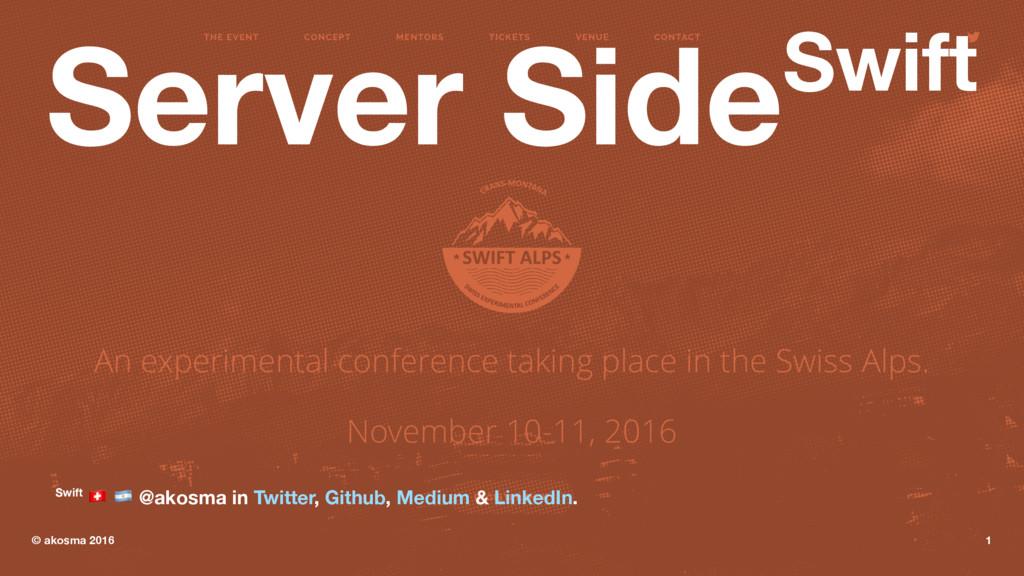 "Server SideSwift Swift ! "" @akosma in Twitter, ..."