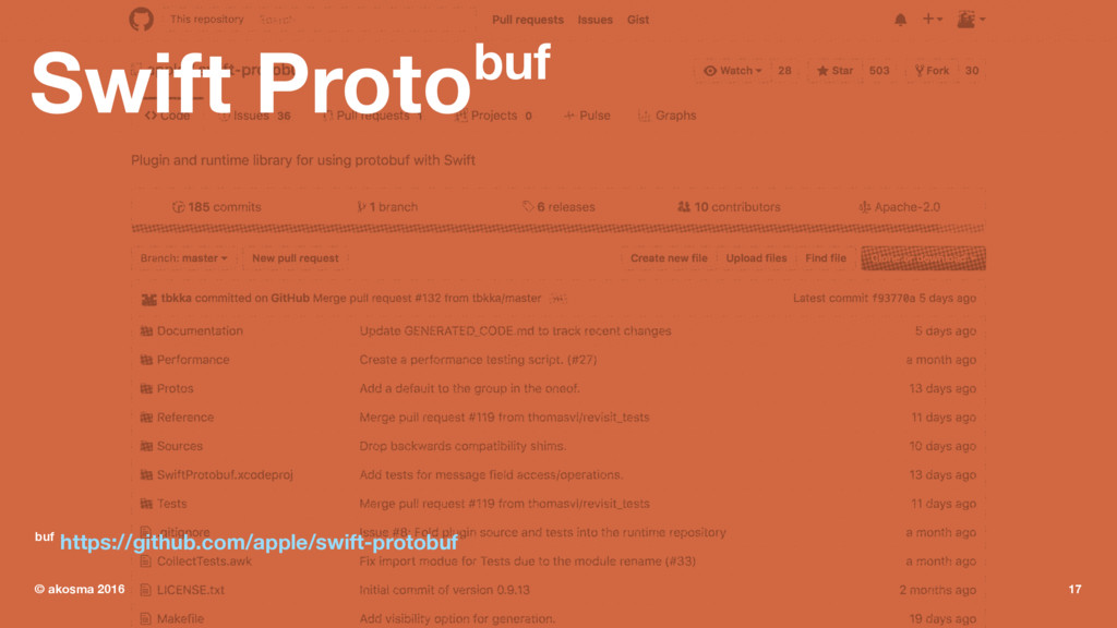 Swift Protobuf buf https://github.com/apple/swi...
