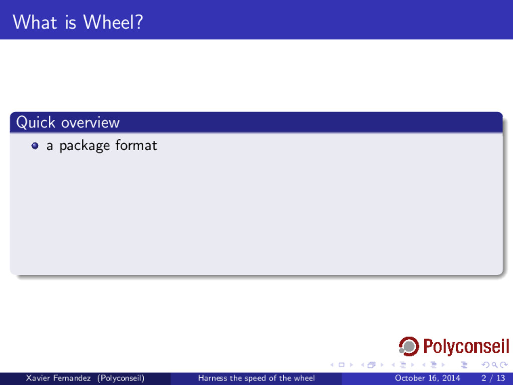What is Wheel? Quick overview a package format ...