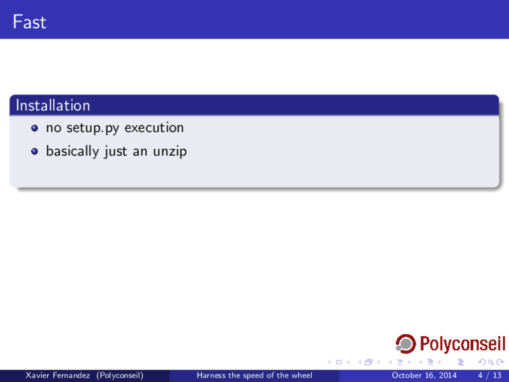 Fast Installation no setup.py execution basical...