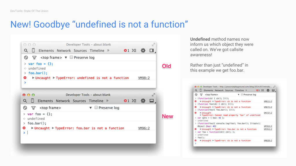 "DevTools: State Of The Union New! Goodbye ""unde..."
