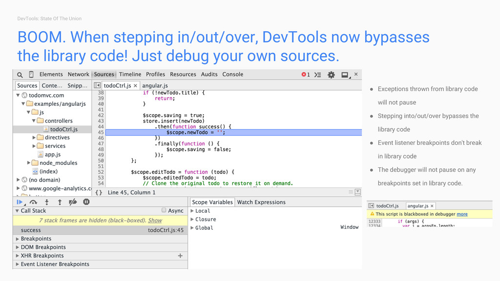 DevTools: State Of The Union BOOM. When steppin...