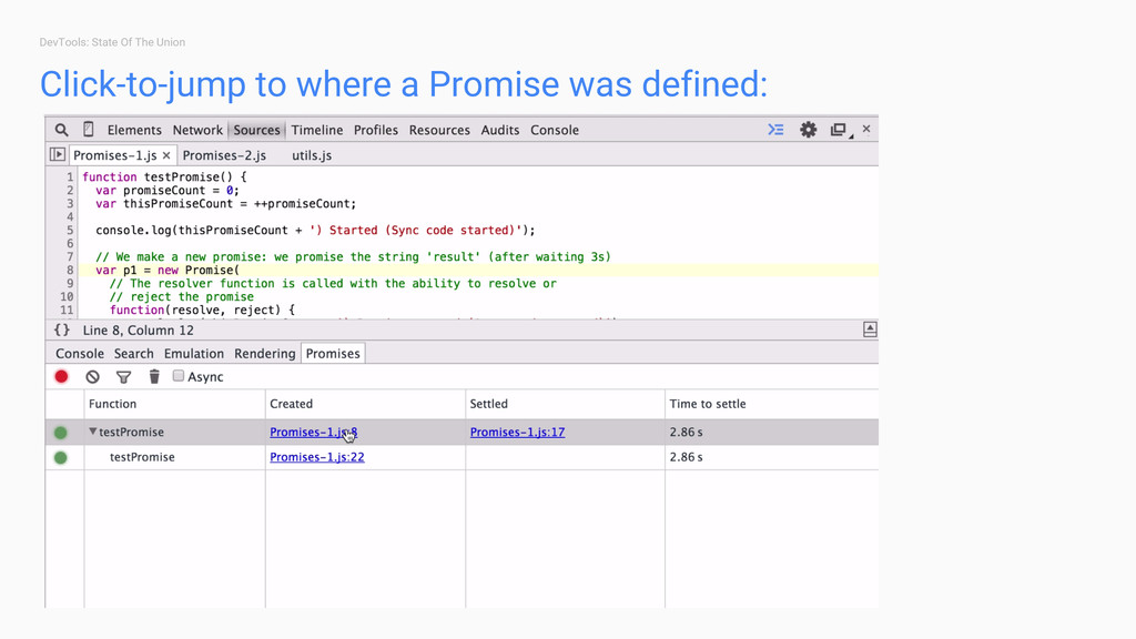 DevTools: State Of The Union Click-to-jump to w...