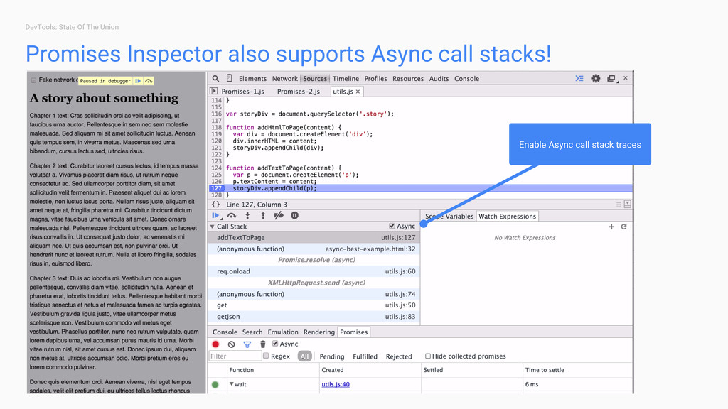 DevTools: State Of The Union Promises Inspector...