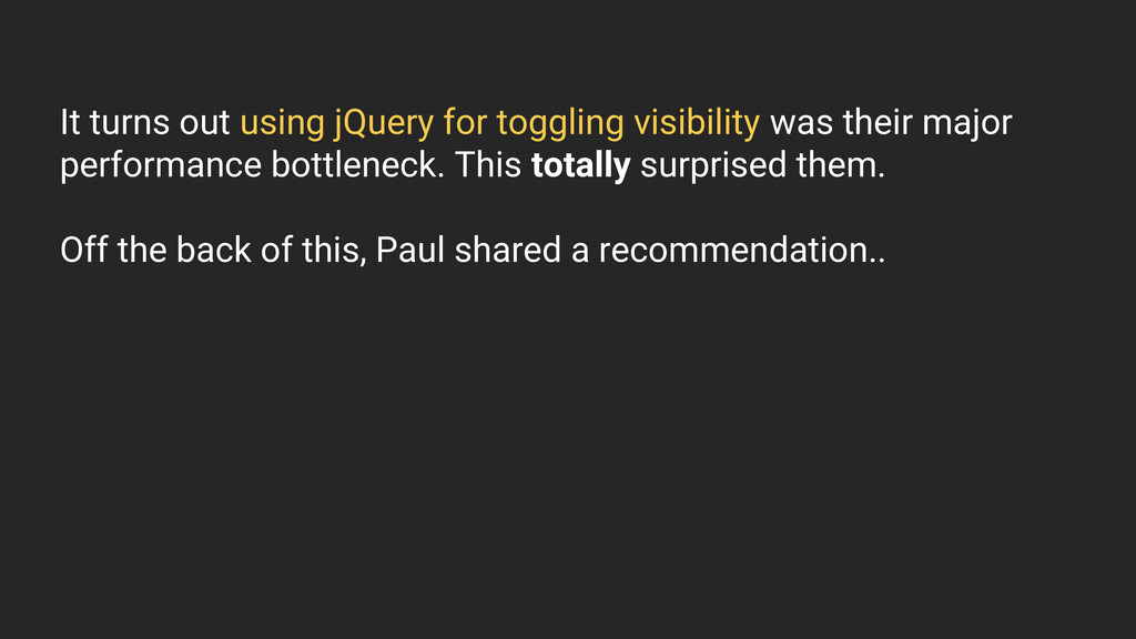 It turns out using jQuery for toggling visibili...