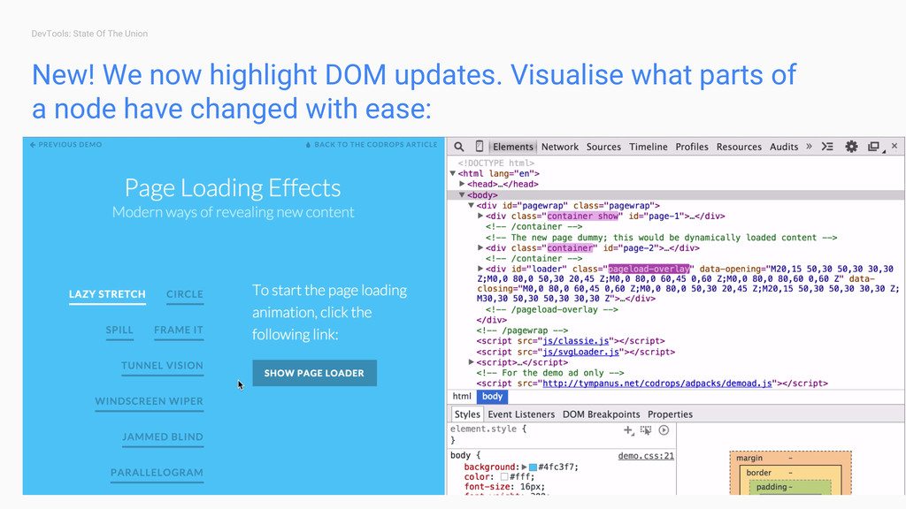 DevTools: State Of The Union New! We now highli...