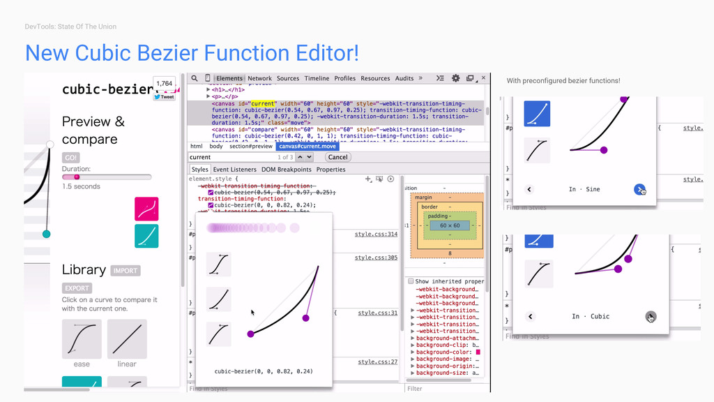 DevTools: State Of The Union New Cubic Bezier F...