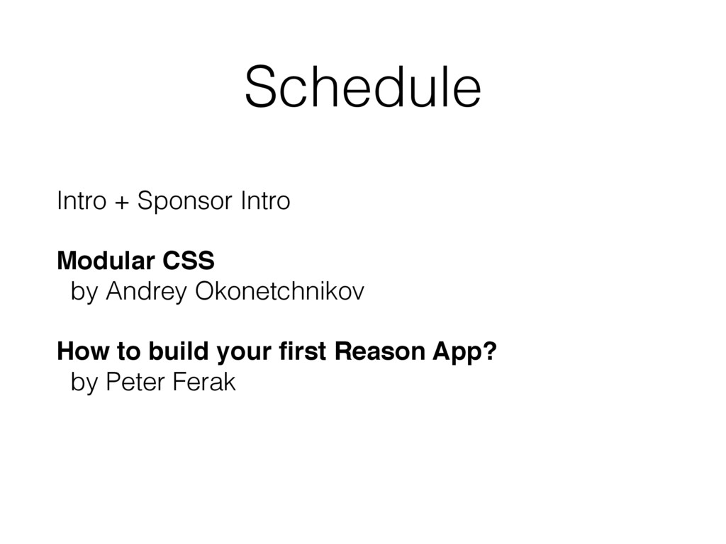 Schedule Intro + Sponsor Intro Modular CSS by ...