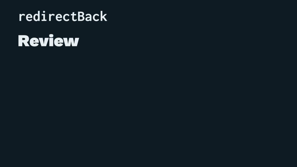 redirectBack Review