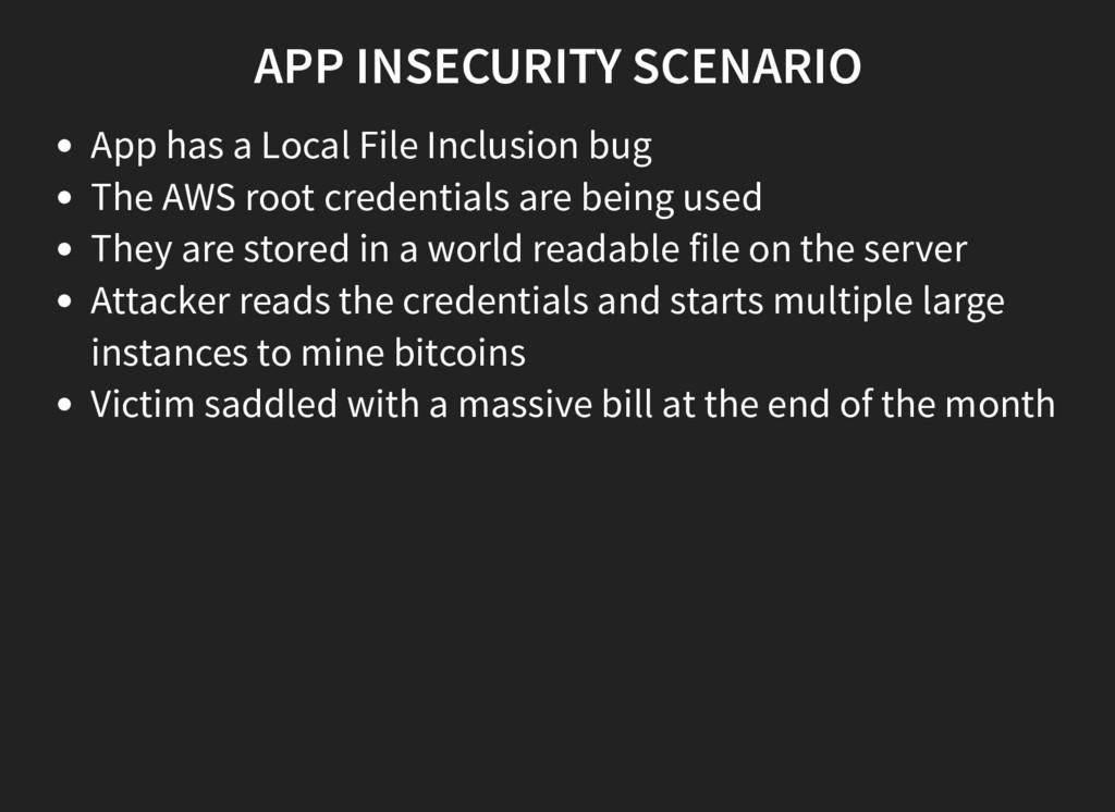APP INSECURITY SCENARIO App has a Local File In...