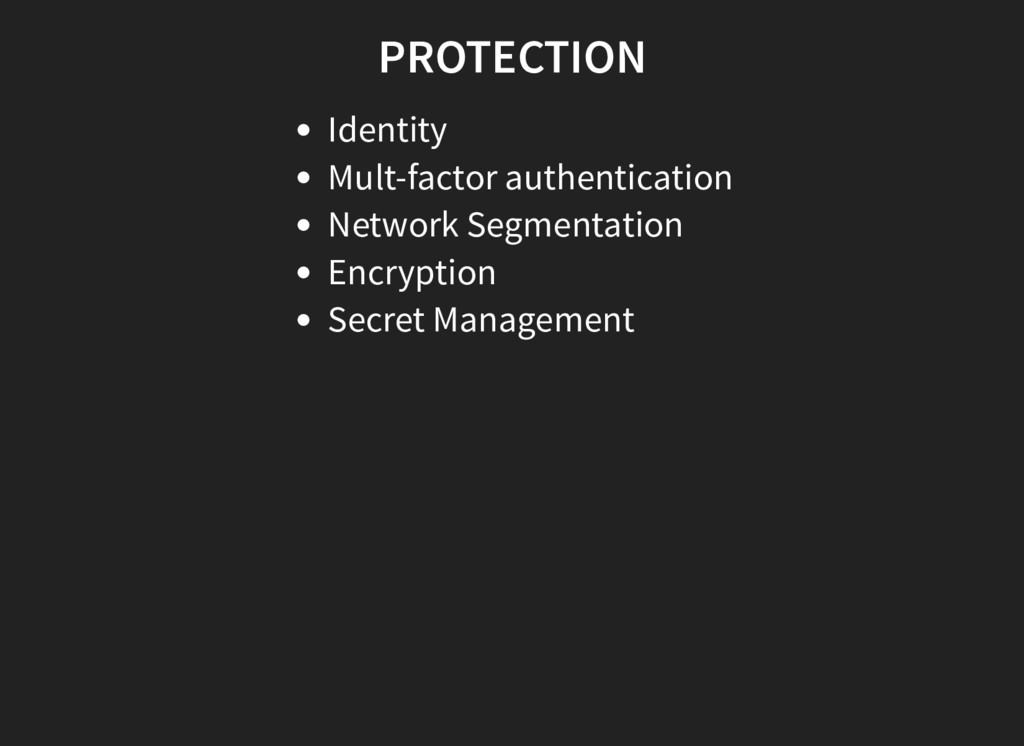 PROTECTION Identity Mult-factor authentication ...