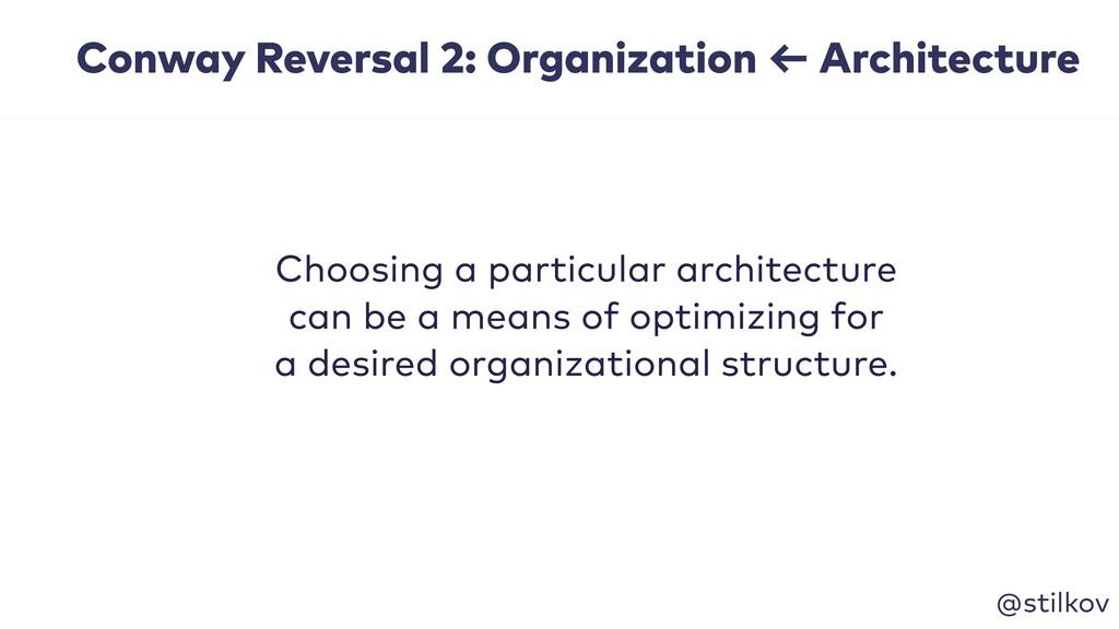 @stilkov Choosing a particular architecture can...