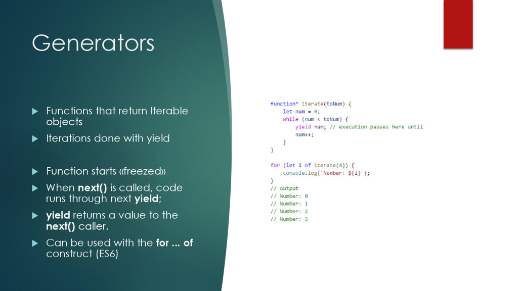 Generators  Functions that return Iterable obj...