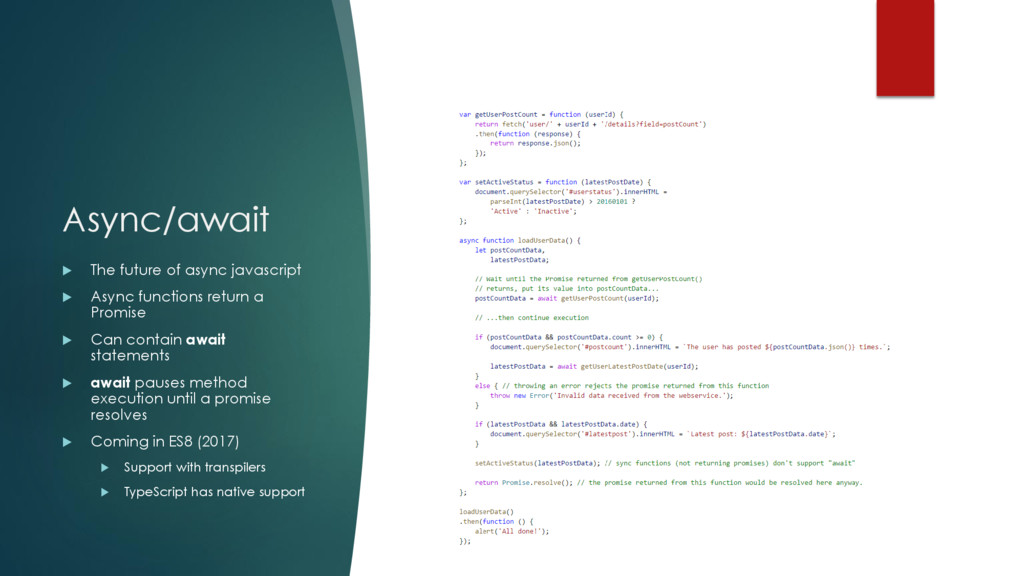 Async/await  The future of async javascript  ...