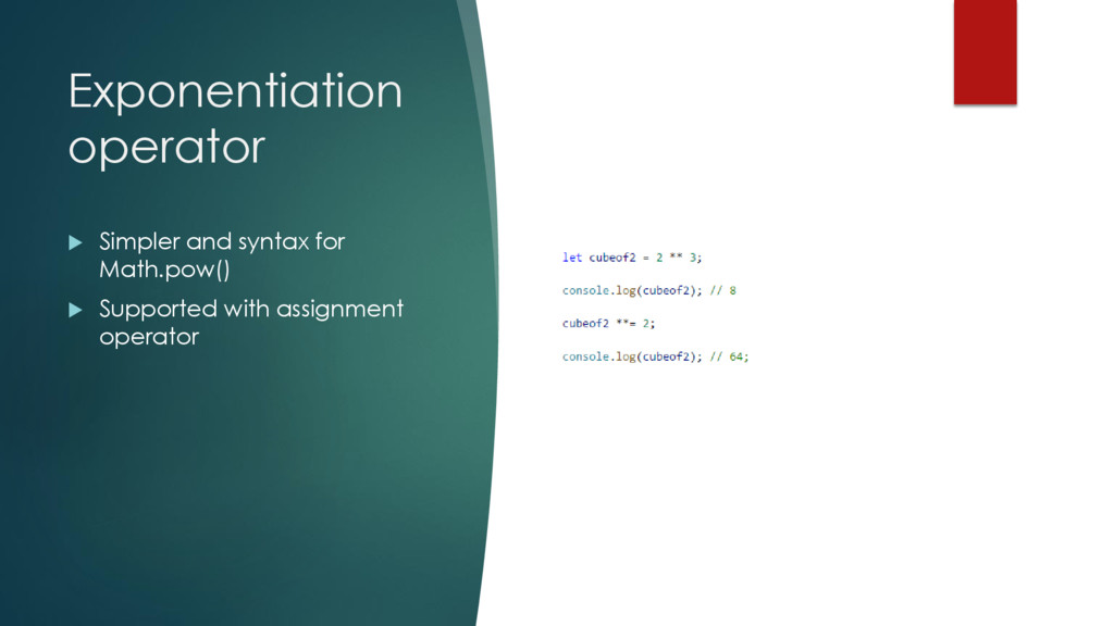 Exponentiation operator  Simpler and syntax fo...