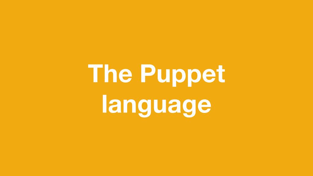 The Puppet language