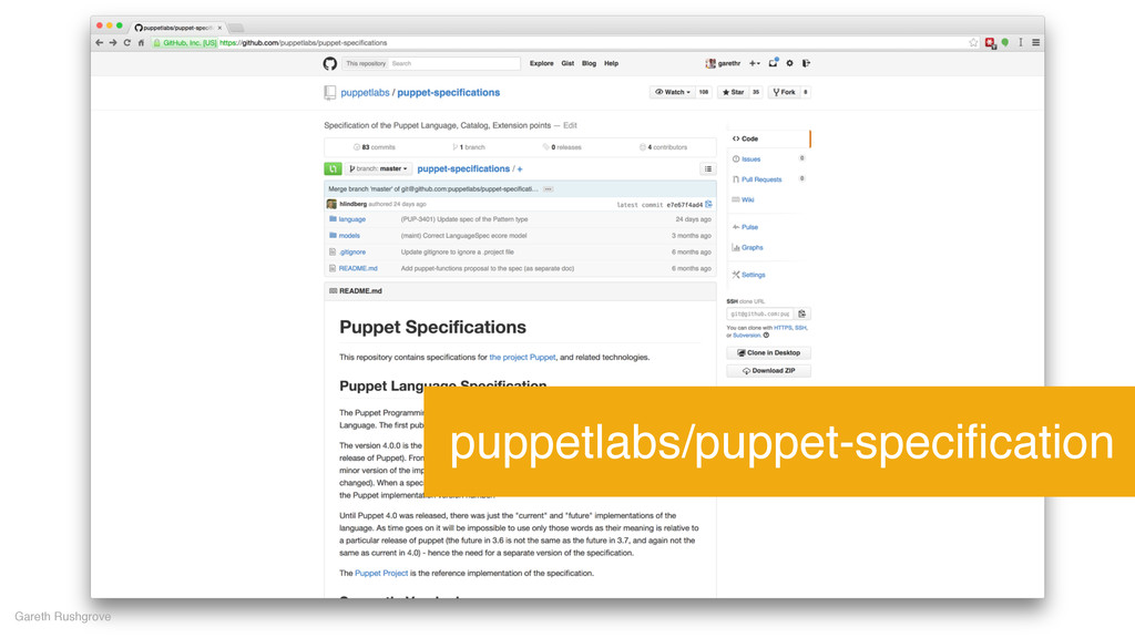 Gareth Rushgrove puppetlabs/puppet-specification