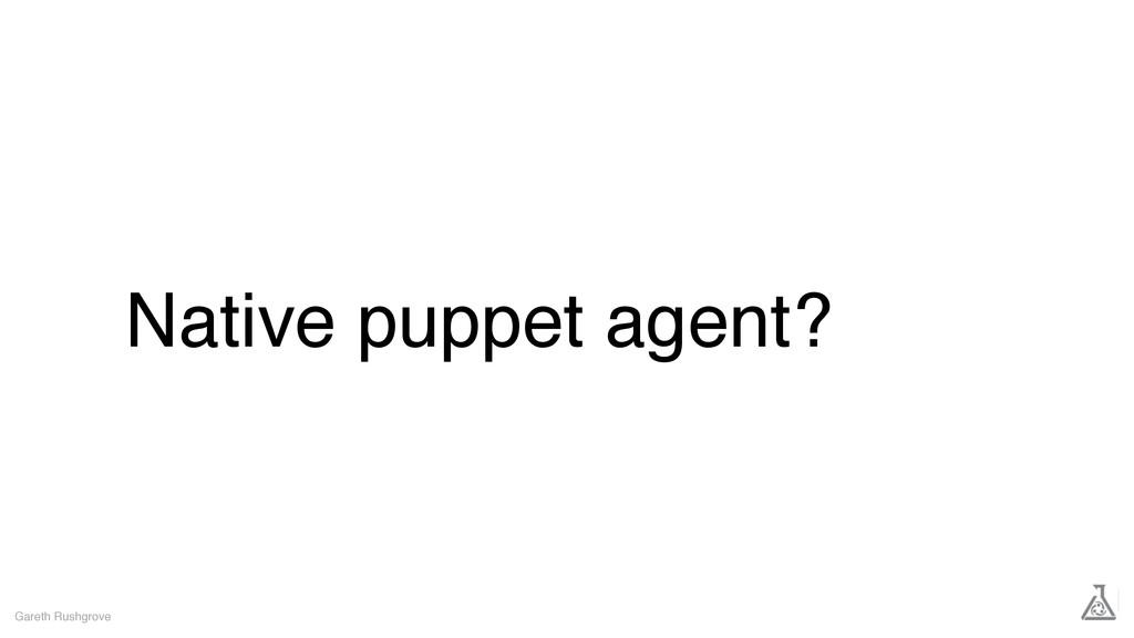 Native puppet agent? Gareth Rushgrove