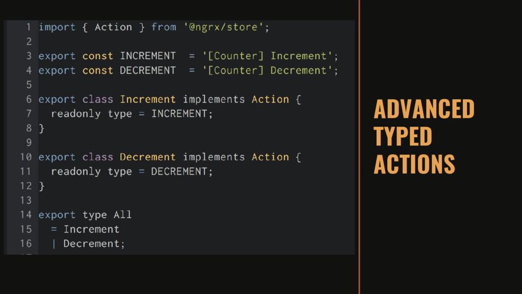 ADVANCED TYPED ACTIONS