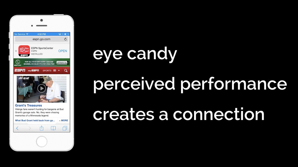 eye candy perceived performance creates a con...