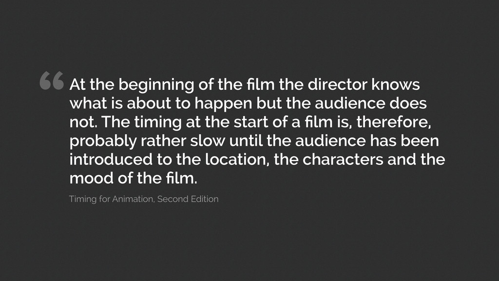 """""""At the beginning of the film the director knows..."""