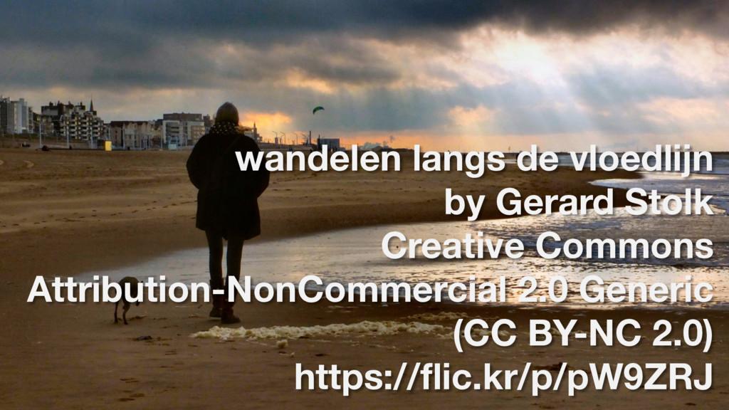 wandelen langs de vloedlijn by Gerard Stolk Cre...