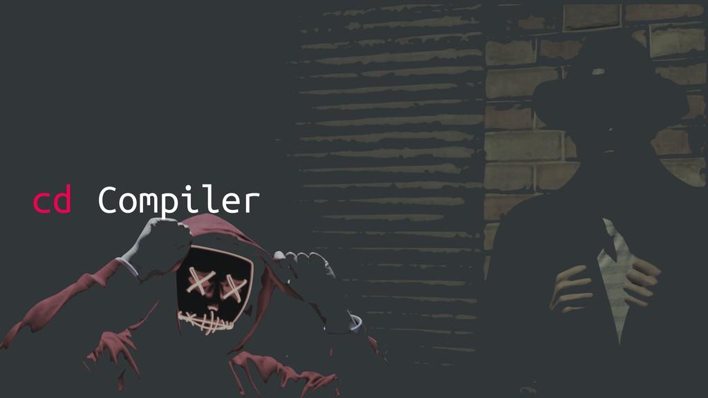 cd Compiler