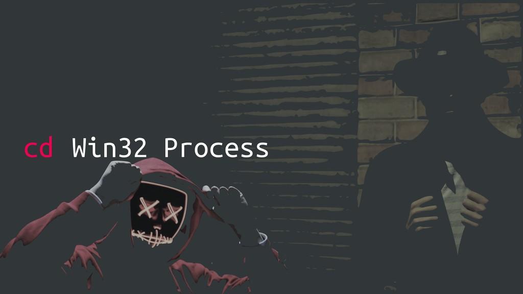 cd Win32 Process