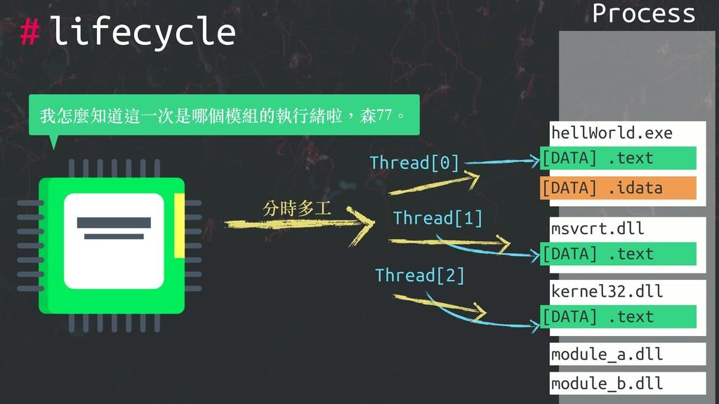 # Process hellWorld.exe [DATA] .text [DATA] .id...