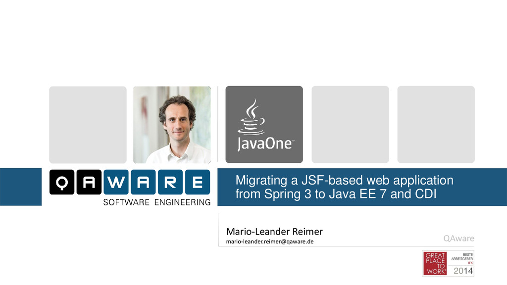 Migrating a JSF-based web application from Spri...