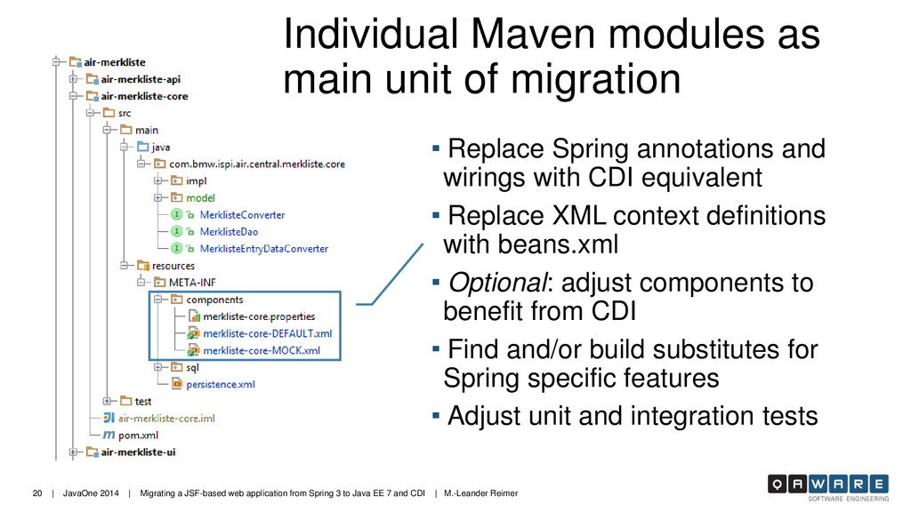 20 | JavaOne 2014 | Migrating a JSF-based web a...