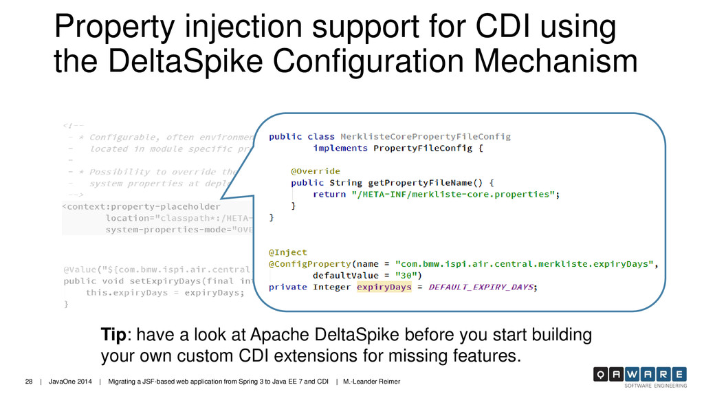 28 | JavaOne 2014 | Migrating a JSF-based web a...