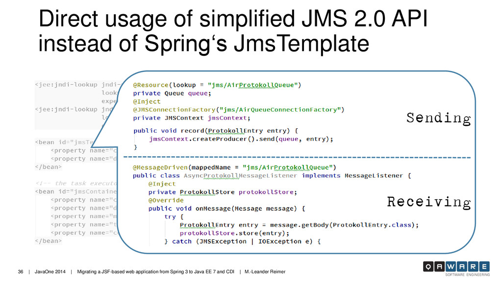36 | JavaOne 2014 | Migrating a JSF-based web a...